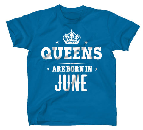 AFONiE Queens Are Born In Kids T-Shirt Turquoise
