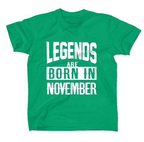 AFONiE Legends Are Born In Kids T-Shirt Green