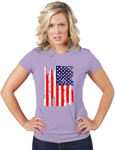 Torn USA Flag T-shirt