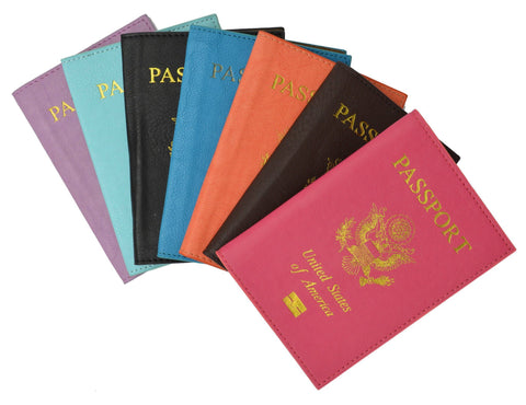 Soft Leather USA Logo Passport Cover Holder - WholesaleLeatherSupplier.com  - 15