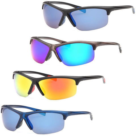 Colorful Raided Sunglasses for men - 4Pack