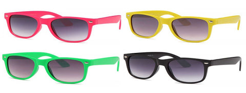 AFONiE Retro Colorblock Kids Sunglasses - 4 Pack