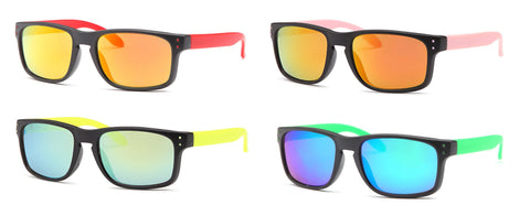 AFONiE Kids Colorblock Sunglasses - 4 Pack