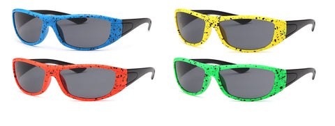 AFONiE Color Splash Kids Sunglasses - 4 Pack