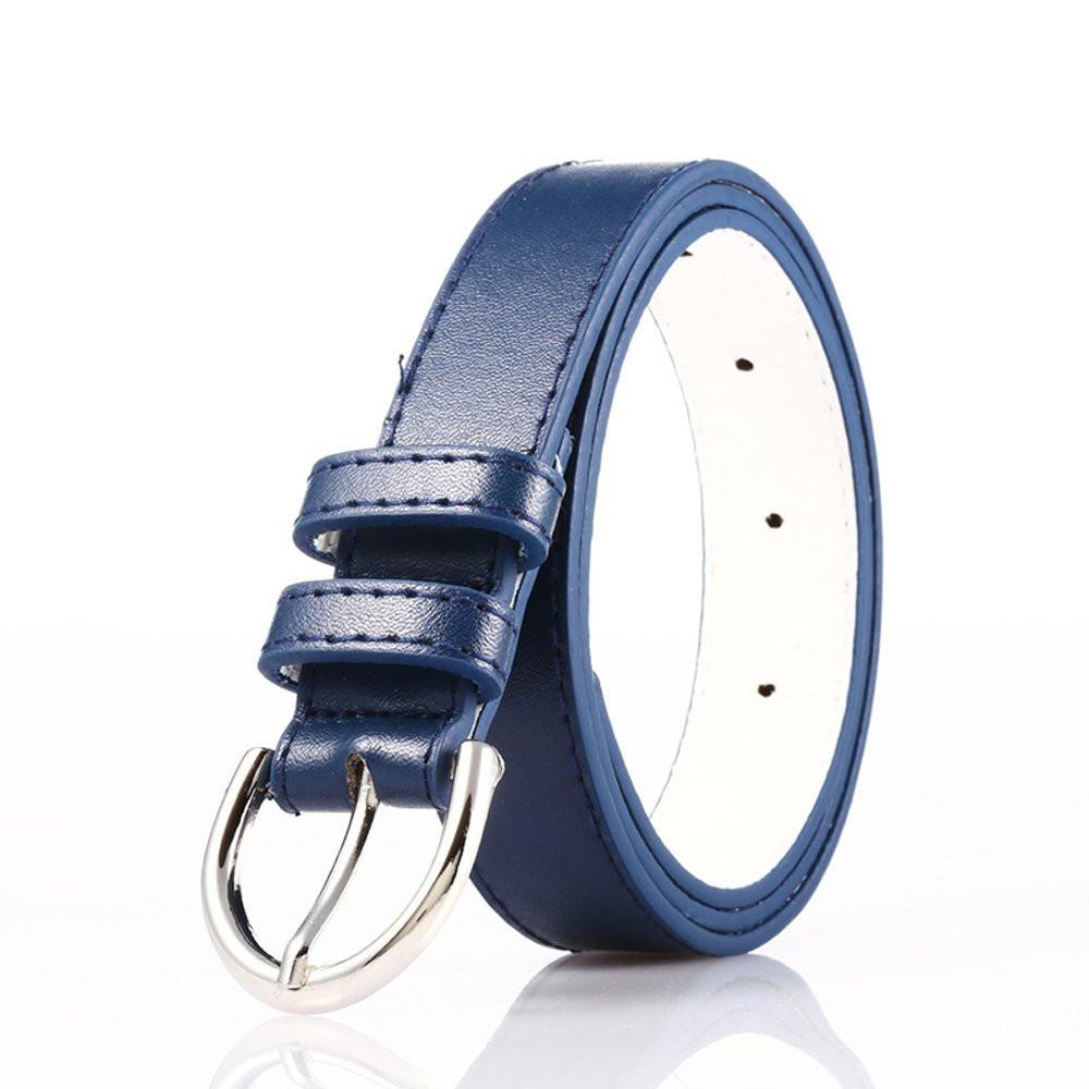 Luxury bonded Leather Slim Belt - Navy Color - WholesaleLeatherSupplier.com  - 2