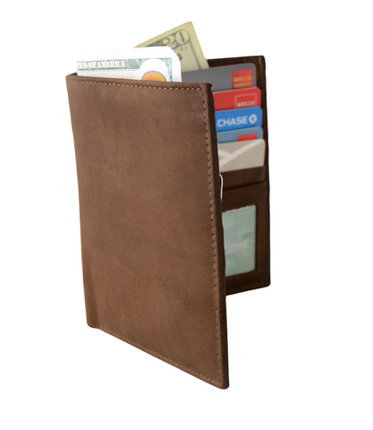 Deluxe RFID-Blocking Soft Genuine Leather Bifold Wallet For Men - Tan - WholesaleLeatherSupplier.com  - 11