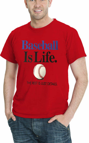 AFONiE Baseball Is Life THE REST IS JUST DETAILS Men's Sport T-Shirt