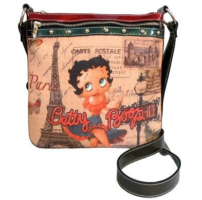 Betty Boop in Paris Messenger Bag
