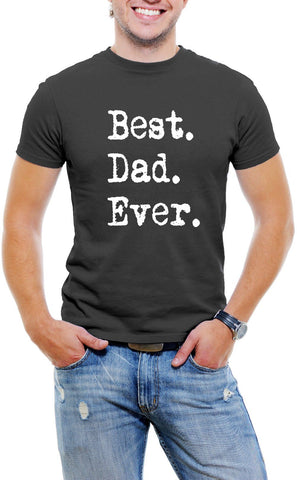 AFONiE Best Dad Ever Men T-Shirt Soft Cotton Short Sleeve Tee