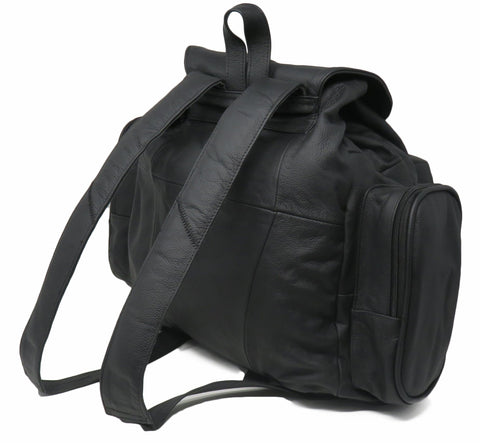 Jumbo Strong Black Leather Backpack