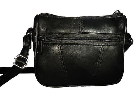 Small Leather Carry Cross body Purse by AFONiE