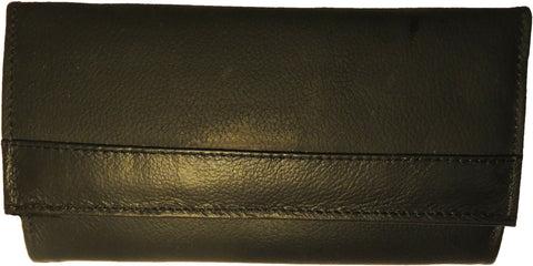 Super Soft Leather 7-Inch Framed Clutch Wallet - WholesaleLeatherSupplier.com  - 9