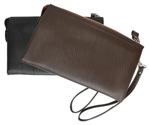 Genuine Leather Simple Women Wristlet - WholesaleLeatherSupplier.com  - 4