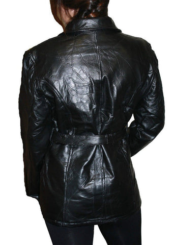 Ladies Patch Leather Jacket