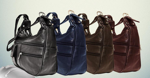 Soft Genuine Leather Shoulder Bag - WholesaleLeatherSupplier.com  - 1