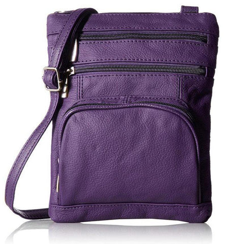 Leather Cross-Body Bag-Assorted Colors