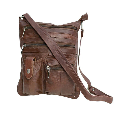 Travel with Style Genuine Leather Crossbody Bag - 3 Colors Available - WholesaleLeatherSupplier.com  - 3