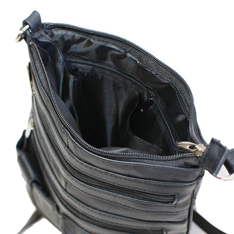 Travel with Style Genuine Leather Crossbody Bag - 3 Colors Available - WholesaleLeatherSupplier.com  - 5
