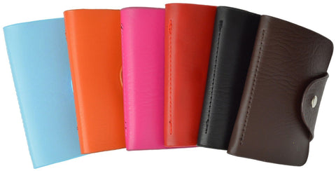Soft  Durable Leather Credit Card Holder Assorted Colors - WholesaleLeatherSupplier.com  - 2