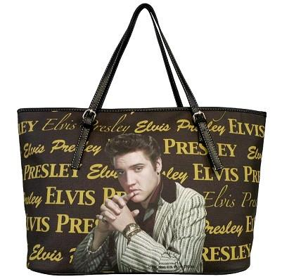 Licensed Golden Elvis Presley Large Tote