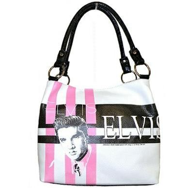 Licensed Elvis Presley White Tote Purse