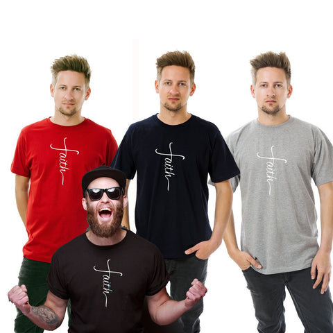 AFONiE Faith Men T-Shirt- Big and Tall Sizes