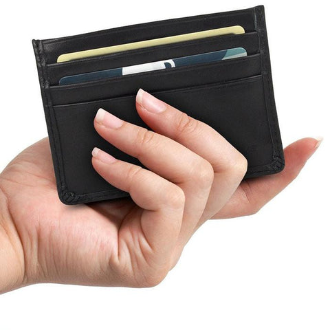 Slim Leather Credit Card Holder - WholesaleLeatherSupplier.com  - 2