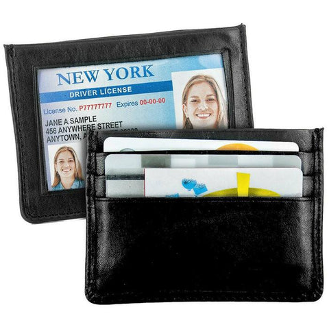 Slim Leather Credit Card Holder - WholesaleLeatherSupplier.com  - 1