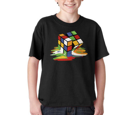Melting Cube Graphic Kids T-Shirt Assorted Colors Sizes XS-XL