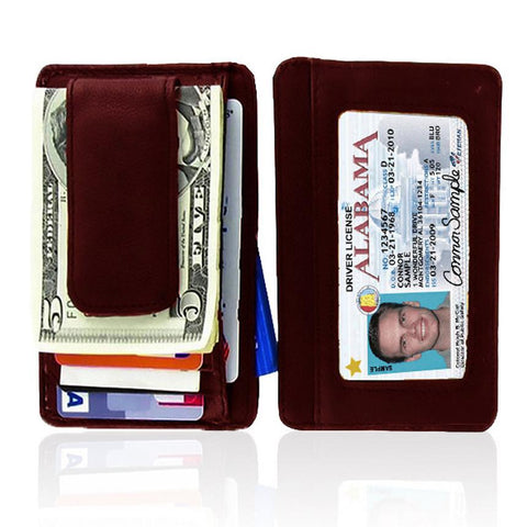 Genuine Leather Magnetic Money Clip - WholesaleLeatherSupplier.com  - 12