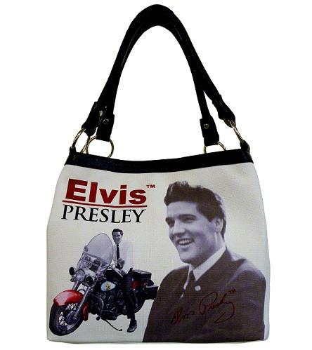 Licensed Elvis Presley Motorcycle Medium Tote