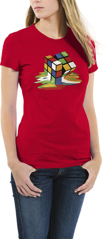 AFONiE Melting Cube Graphic Woemen T-Shirt