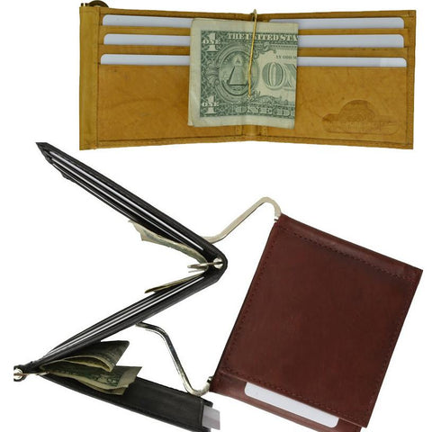 Genuine Leather Wallet Money Clip