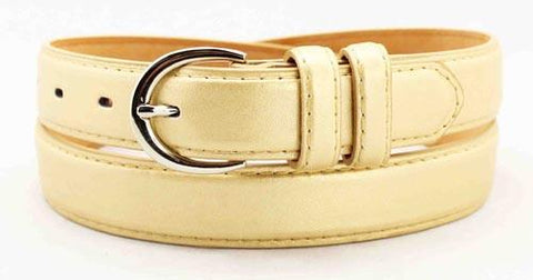 Luxury Genuine Leather Slim Belt - Silver Color - WholesaleLeatherSupplier.com  - 34