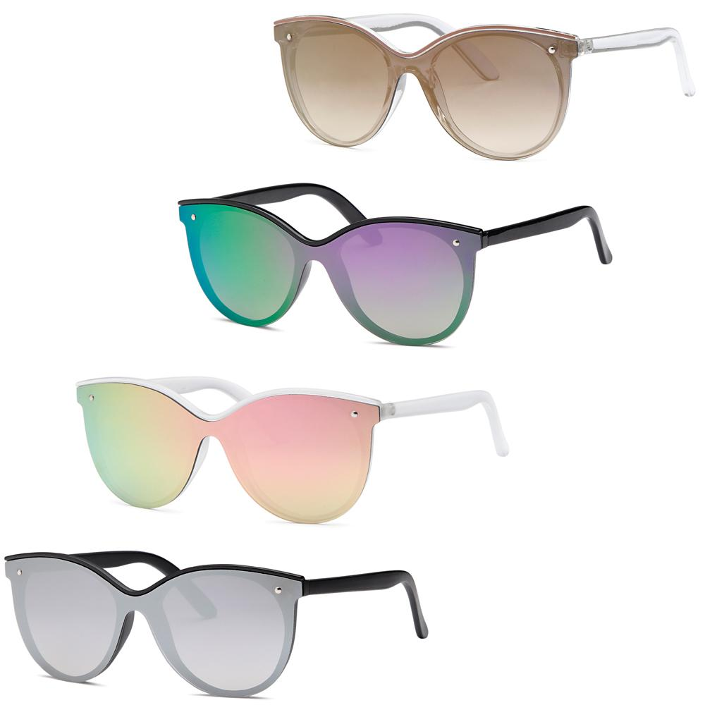 Modern Flat Lens Fashion Sunglasses - Pack of 4