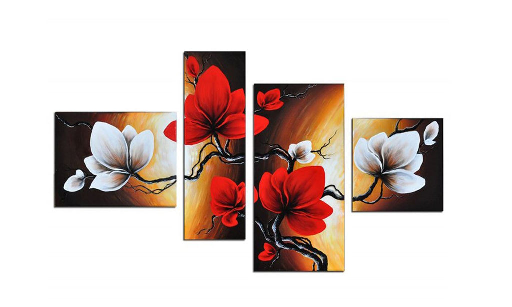 Wall Decor Oil Paintings On Canvas Various Abstract Designs 1/ 3 /4 /5 Panels