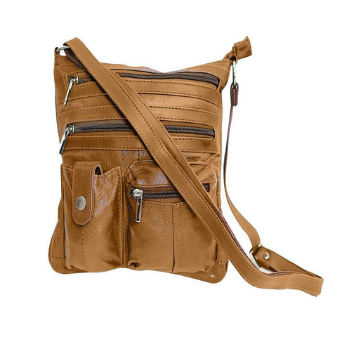 Travel with Style Genuine Leather Crossbody Bag - 3 Colors Available - WholesaleLeatherSupplier.com  - 4