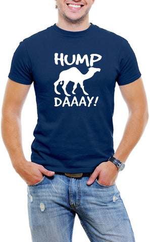AFONiE Hump Day Camel Men T-Shirt Soft Cotton Short Sleeve Tee