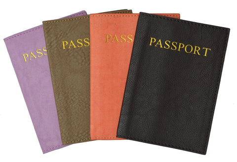 Passport Holder - Black - WholesaleLeatherSupplier.com