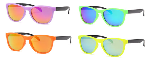 AFONiE Retro Kids Sunglasses - 4 Pack