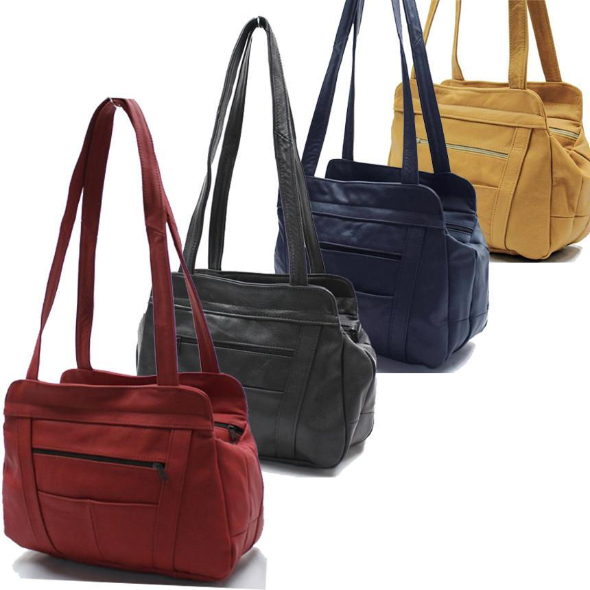 Lifetime Soft Leather Tote Bag - 7 Colors - WholesaleLeatherSupplier.com  - 1