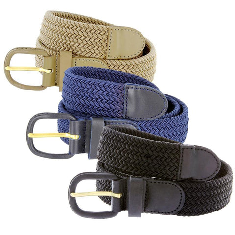 Braided Stretch Belt - WholesaleLeatherSupplier.com  - 1