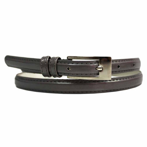Women's Skinny Square Buckle Belt Gold Color - WholesaleLeatherSupplier.com  - 8