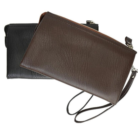 Genuine Leather Simple Women Wristlet - WholesaleLeatherSupplier.com  - 1