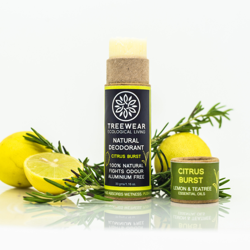 Natural Deodorant - Citrus Burst - TreeWear - Ecological Living | Eco-friendly lifestyle products | 100% Natural | Sustainable | Tree Contribution