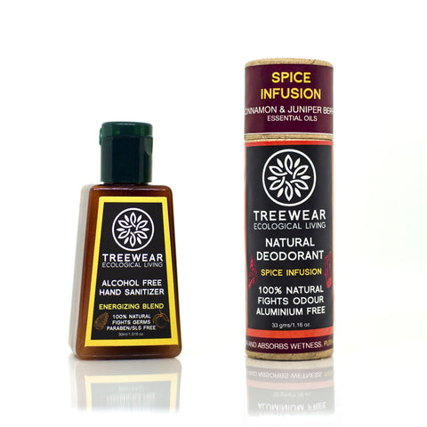 Eco Travel Kit - Natural Deodorant (33gm) & Hand Sanitizer (30ml) combo