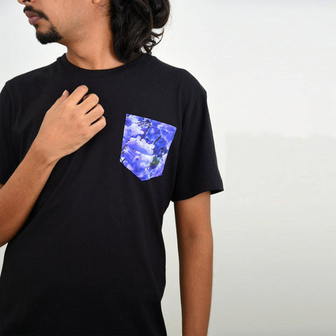 Men's Black Jacaranda Pocket T-shirt