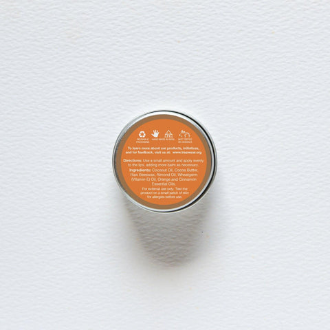 Natural Wax Lip Balm - Orange & Cinnamon