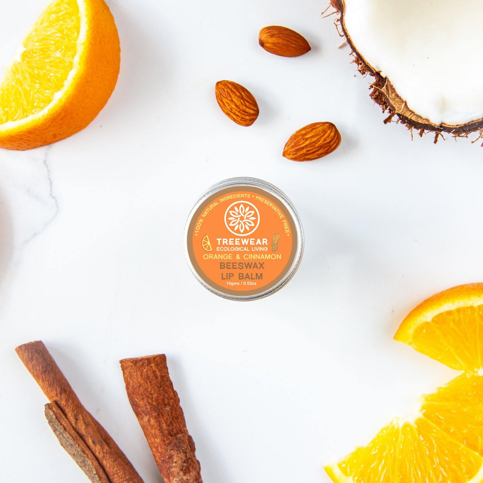 Natural Beeswax Lip Balm - Orange & Cinnamon