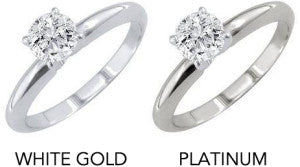 What are the differences Between White Gold and Platinum